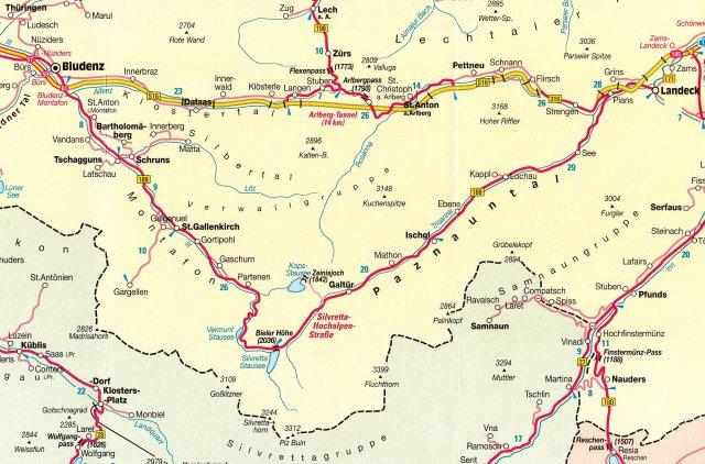 Vorarlberg Karte Berge.Berge Und Pässe Der Alpen