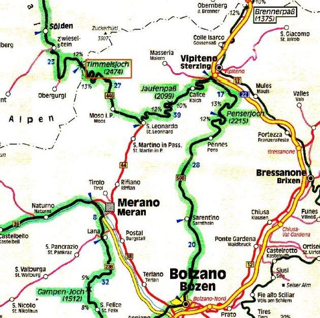 Alpenpässe Karte.Berge Und Pässe Der Alpen